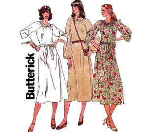 Butterick 6119 Womens Marie Osmond 70s Design Dress 70s Vintage Sewing Pattern Size 14 16 18 UNCUT Factory Folds Bust 36 38 40 inches