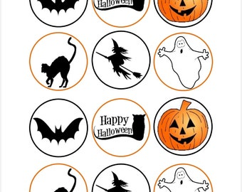 Edible Halloween Themed Cupcake Toppers