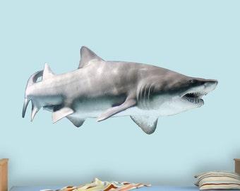 Sand Shark Wall Decal Shark Wall Decor Realistic Shark Sticker Peel And Stick Home Decor PAS8