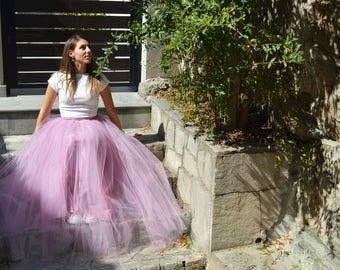 Pink Tulle Skirt, Long Tulle Skirt, tulle skirt adult, Tutu Skirt, Blush tulle skirt, Bridesmaids Tulle Skirt, Prom Tulle Skirt, Party Skirt