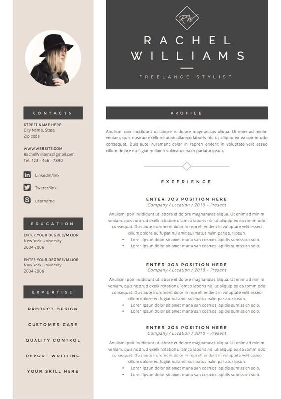 4 página curriculum vitae/plantilla del CV letra de cubierta