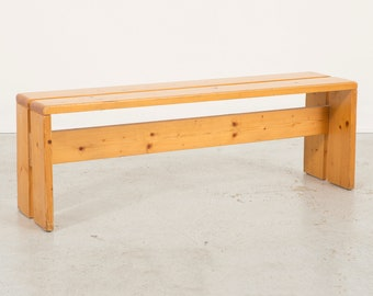 Pair of Les Arcs Pine Benches by Charlotte Perriand