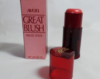 Great Blush Avon Frost Stick Soft Red Twist Up Tube New Old Stock Vintage 70s in Box