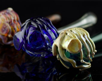Facehugger Alien Glass Pipe / Sherlock Pipe / Alien Movie / Xenomorph / Alien Glass Pipe / Sci-fi Glass / Thick Wall Pipe / Made to Order