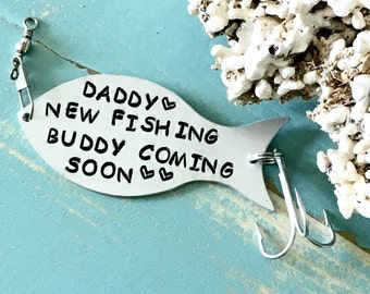 Pregnancy Announcement To Husband, Personalized Fishing Lure, Gift For Fisherman, Fishing Gifts