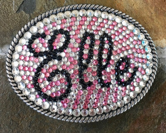 Rhinestone Belt Buckle Personalized with Name