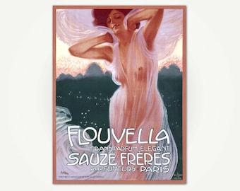 Flouvella Perfume Poster Print - Vintage French Art Nouveau Poster Art