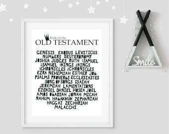 Scandinavian art, nursery art, wall art, Bible, Christian, Old Testament,Books of the Bible, Genesis,Printable artwork