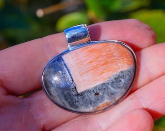 Wonderful Genuine Celestobarite set in Solid 925 Sterling Silver Pendant