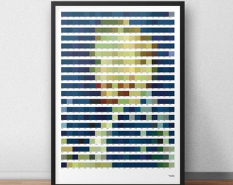 Vincent van Gogh in Pantone colors