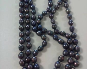 natural Baroque pearl, necklace