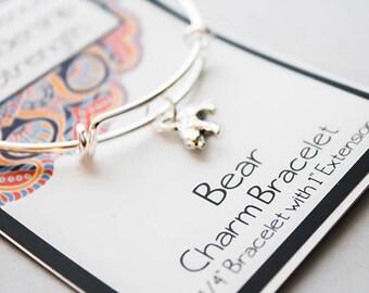 Wish Intention Bracelet - Bear Bracelet - Animal Bracelet - Confidence - Leadership - Strength
