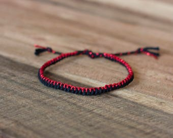 Red & Black Zipper Bracelet
