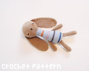 CROCHET PATTERN - Amigurumi Bunny - PDF Instant Download - Cute Baby Shower Gift