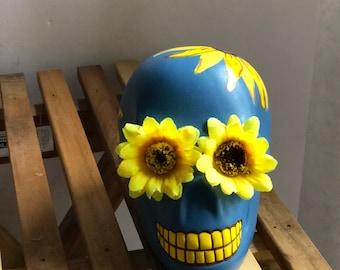 Sunflower blue skull
