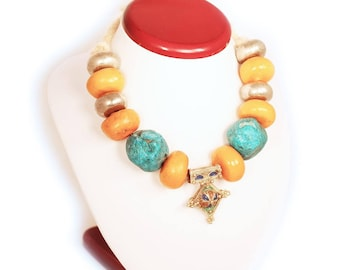 Berber-style necklace from original Moroccan beads #2