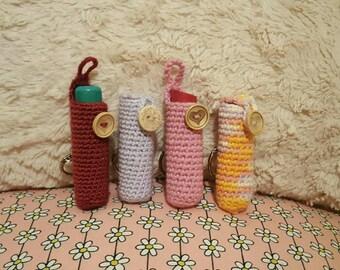 Crochet lip balm holder keyring
