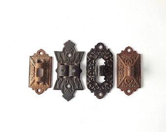 Antique Brackets Oil Lamp Sconce Eastlake Set of Four Wall Sconce Bracket Cast Iron Ornate Victorian Oil Lamps Swing Holders FREE SHIPPING