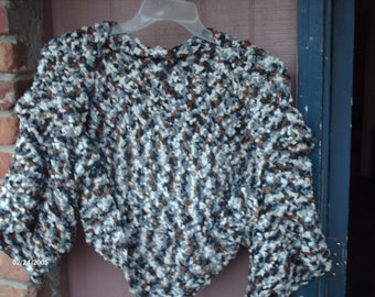 Crocheted multi-colored shrug