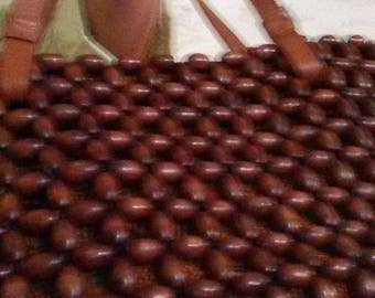 THE SAK PURSE Elliott Lucca Handbag Wooden Bead Handbag Back to School bag Leather Purse Chic Purse Bohemian Handbag Saks 5th Avenue Purse
