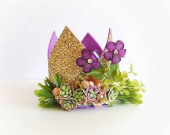 Desert Lavender Princess Crown // Princess Crown // Birthday Crown // Gold Glitter Crown