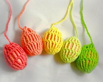 5 Egg slings, Eiernetz, Eiertitschen, Easter