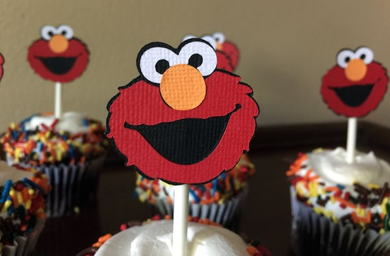 Elmo Party Cupcake Toppers Elmo Birthday Party Elmo Baby