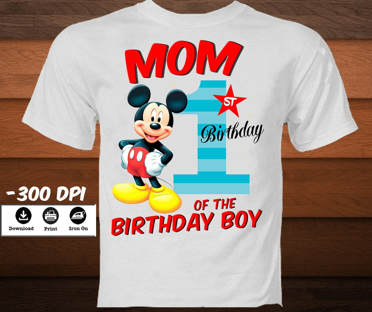 Mickey Mouse Birthday Shirts For Parents