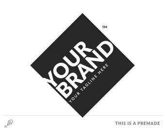 Minimalist Bold Black Logo - Premade Logo / Blogger Header Design / Premade Blog Header / Black logo / Minimal blog logo / Website Header
