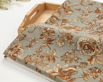 Vintage Rose Fabric - Beautiful Floral, Botanical Fabric, Natural Floral By The Yard