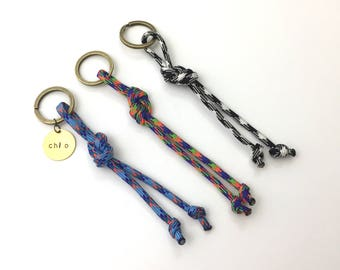 New Chi Omega Paracord Knot Colored Keychain | 3 Colors to Choose From