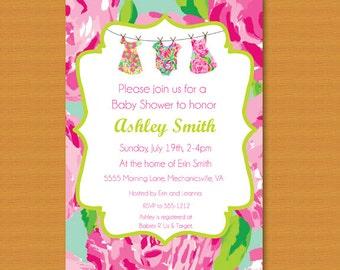 Pulitzer invitation etsy sale baby shower invitation baby sprinkle invitation lilly pulitzer inspired filmwisefo