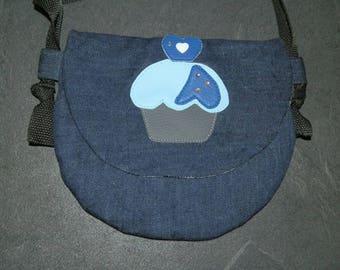 girl or little girl denim shoulder bag