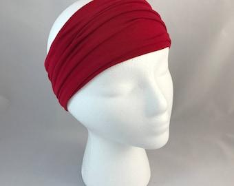 Red Headband Bamboo Fabric Headband Best Headband made by HippyBB HeadBBand