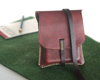 Playing cards leather bag,leather pouch,playing cards pouch, full grain leather,natural leather case