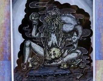 "Dark Rituals (8.5"" x 11"" Print)"