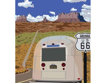 "Route 66, 9""x 12"" limited edition archival Giclee print"