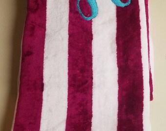 Personalized Beach Towel, Beach Towel, Bag