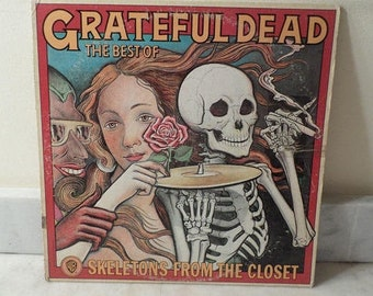 Vintage 1974 LP Record Skeletons From the Closet The Best of The Grateful Dead Very Good Condition 14445