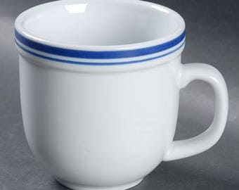 Pottery Barn Club China Blue Mug