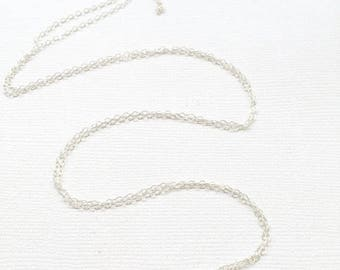 Sterling Silver Flat Cable Chain