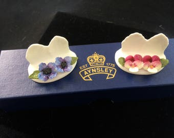 Vintage Aynsley Fine Bone China Place Card Holders