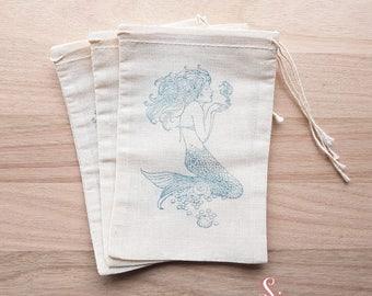 Mermaid Muslin Favor Bags