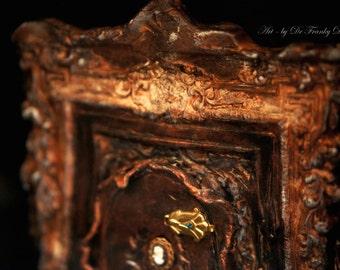 Fairy Door: APPARITIONS OF ROMANCE. Faerie Dream Door sculpture dollhouse furniture room by Fae Factory Artist Dr Franky Dolan (fantasy art)