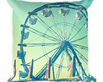 Whimsical Ferris Wheel Throw Pillow