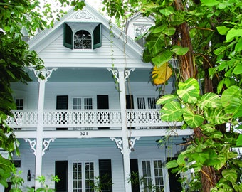 Key West, Florida Vintage Home with Two Story Porch