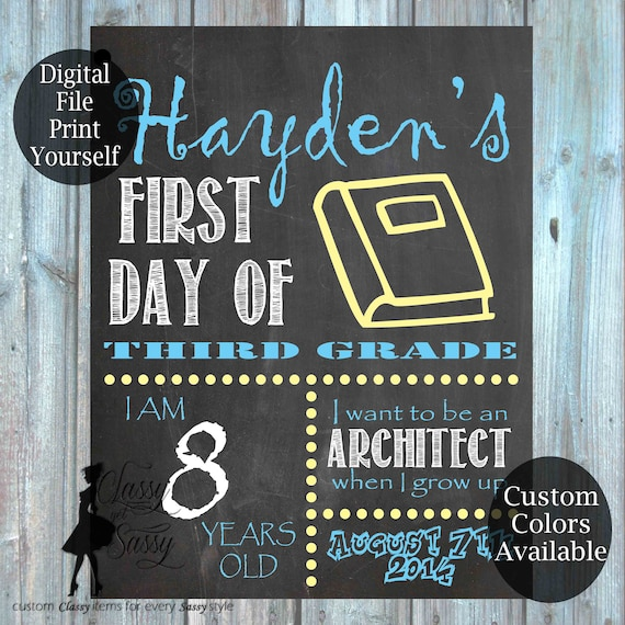 First Day Of School Chalkboard Sign 158