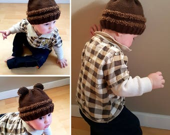 Fuzzy Wuzzy Baby Toque (knitted)