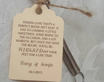 Personalized Favor Tags 2 1/2'', Wedding tags, Thank You tags, Favor tags, Gift tags, Bridal Shower Favor Tags, whisked