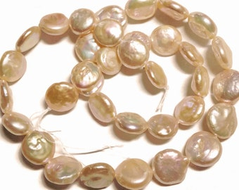 Peach coin pearls.    Select a size: 11-12mm, 12.25-13.25mm